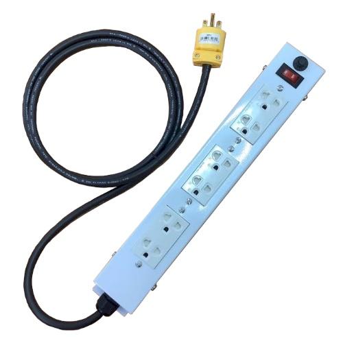 ปลั๊กพ่วงกล่องโลหะ ปลั๊กพ่วงอุตสาหกรรม 6 ช่อง รุ่น EQ-03622 (Extension Cord)